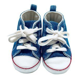 Baby Gap Denim High Top Soft Sole Infant Shoes